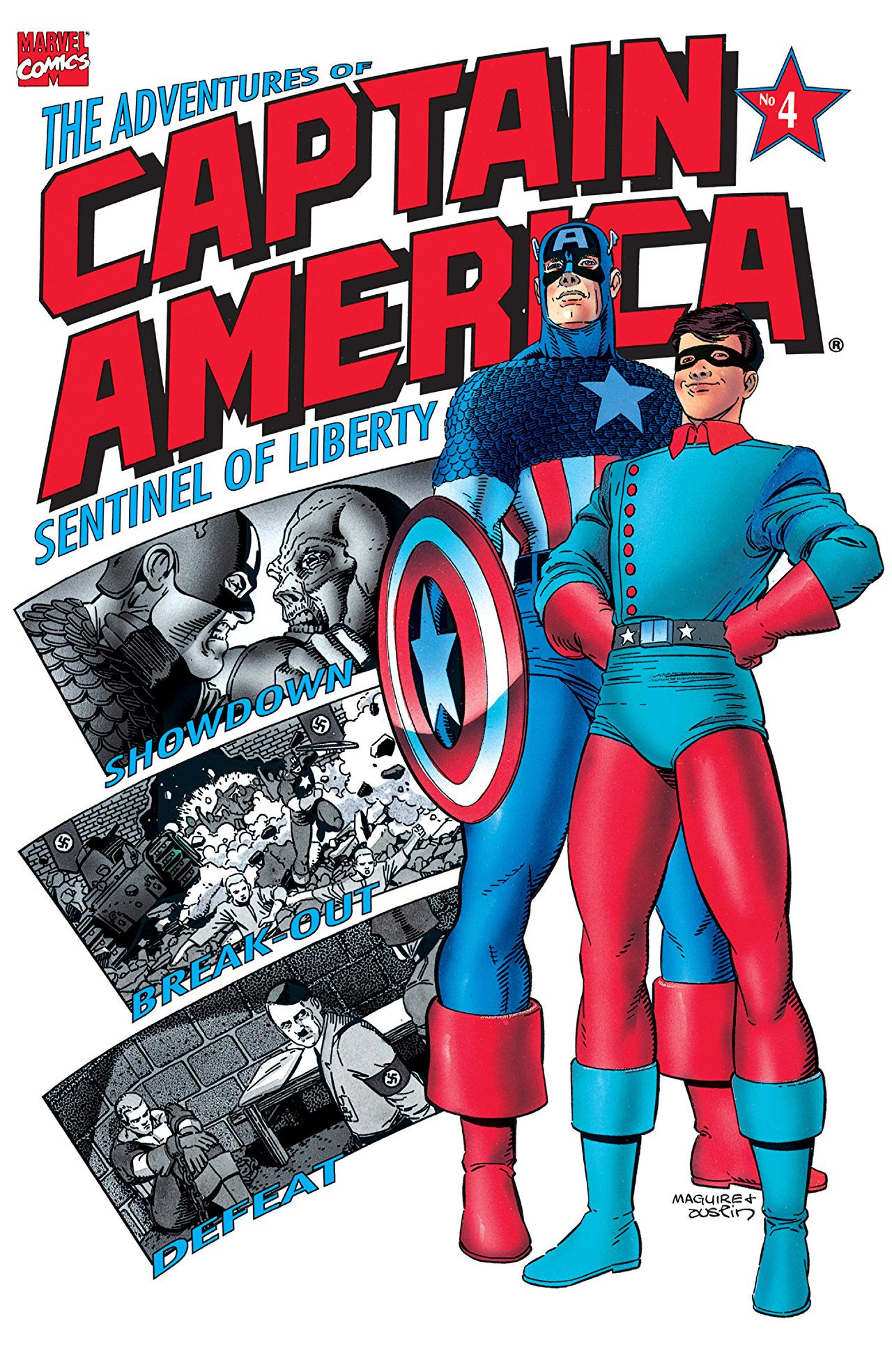 Copertina di Adventures of Captain America 4