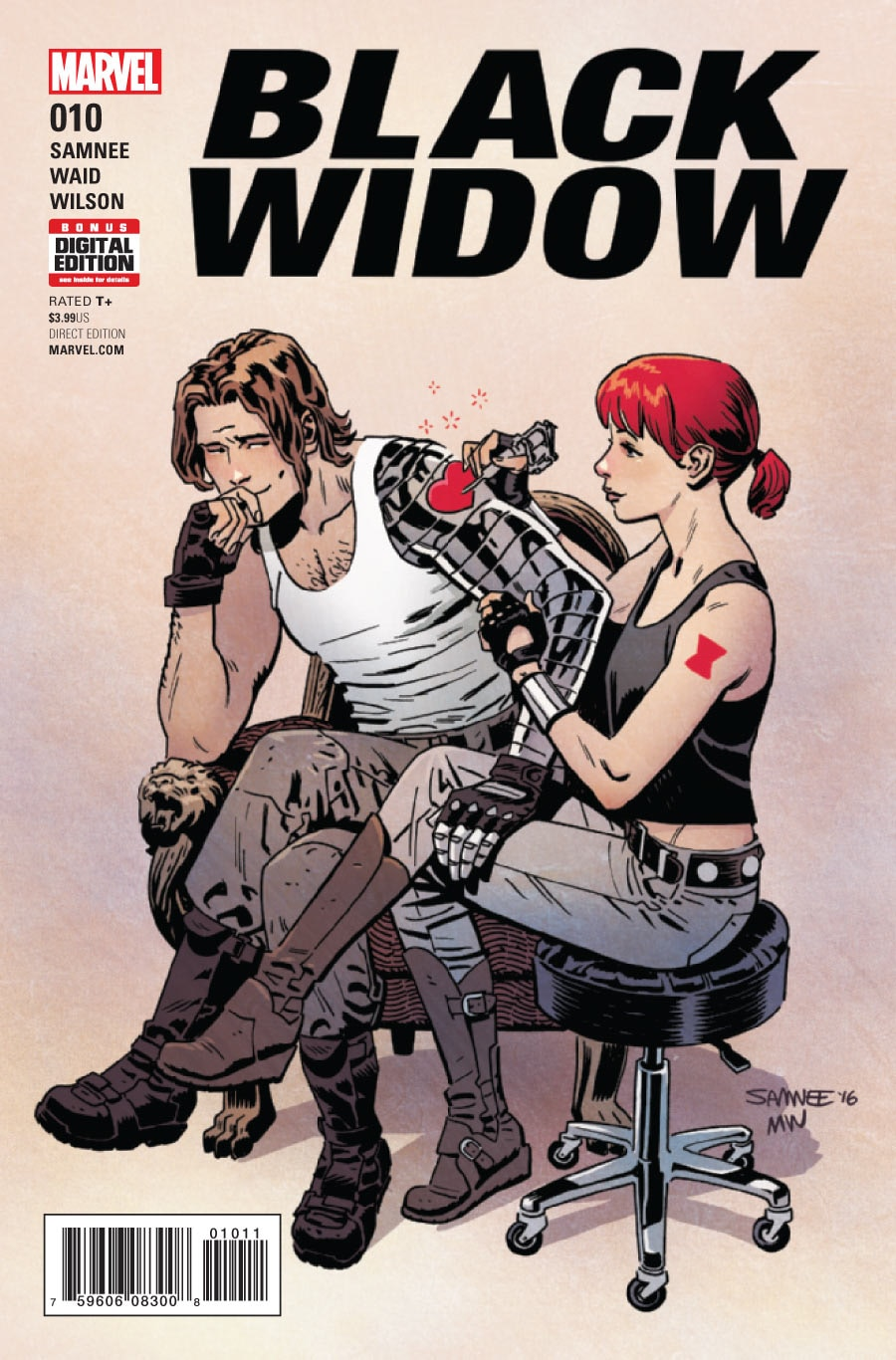 Copertina di Black Widow 10 del 2017, di Chris Samnee e Matthew Wilson
