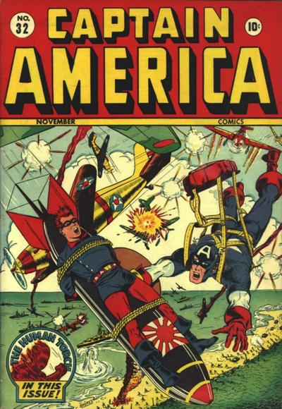 Copertina di Captain America Comics 32 del 1943, di Syd Shores