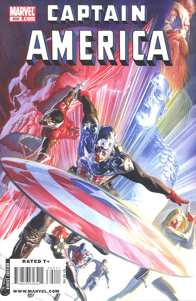 Copertina Variant di Captain America 600 del 2009, di Alex Ross