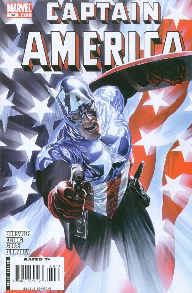 Copertina di Captain America 34 del 2008, di Alex Ross