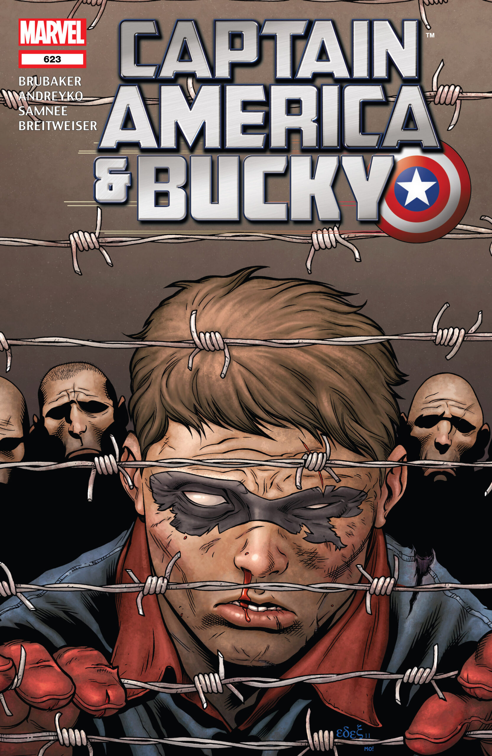 Copertina di Captain America and Bucky 623 del 2011