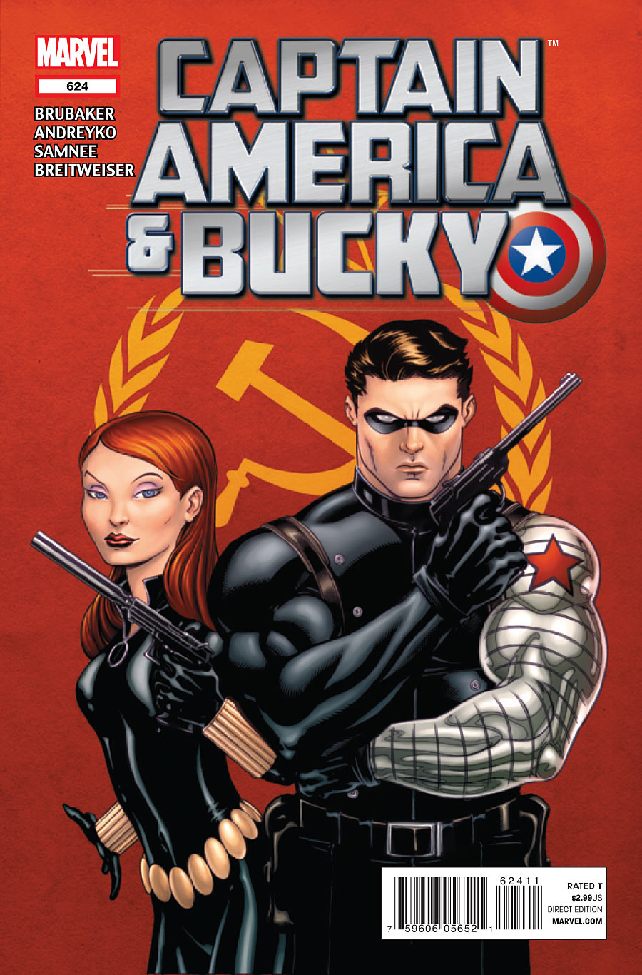 Copertina di Captain America and Bucky 624, del 2012, di Ed McGuiness e Morry Hollowell