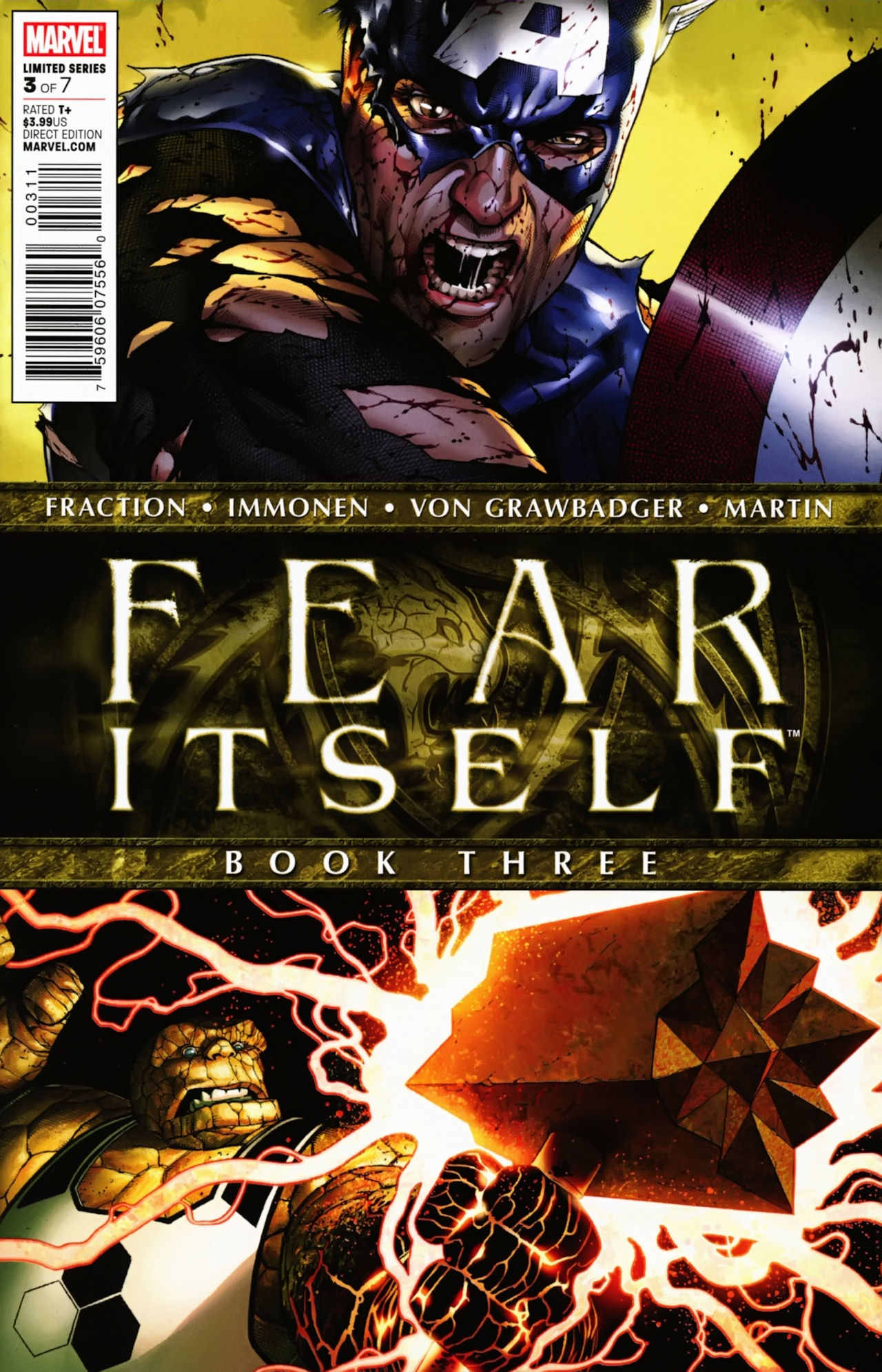 Copertina di Fear Itself 3 del 2011, di Steve McNiven