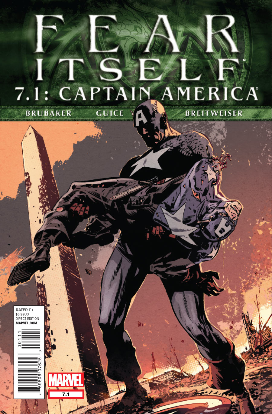Copertina di Fear Itself 7.1 del 2012, di Butch Guice e Elizabeth Breitweiser