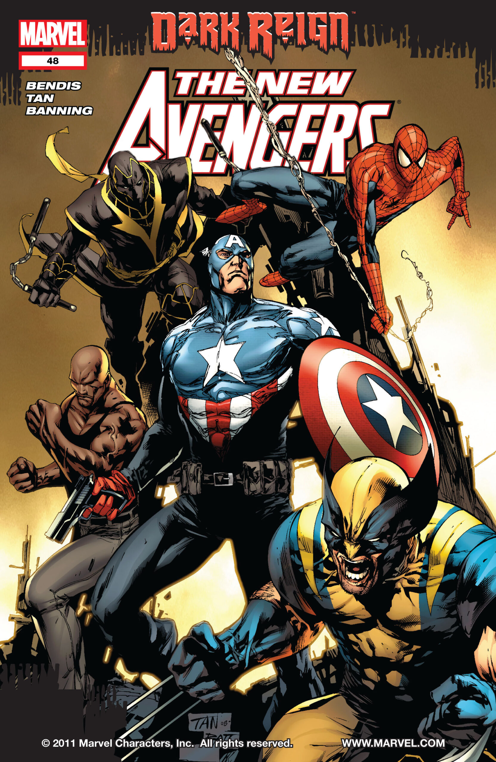 Copertina di New Avengers 48 del 2009, di Billy Tan, Matt Banning e Jason Keith