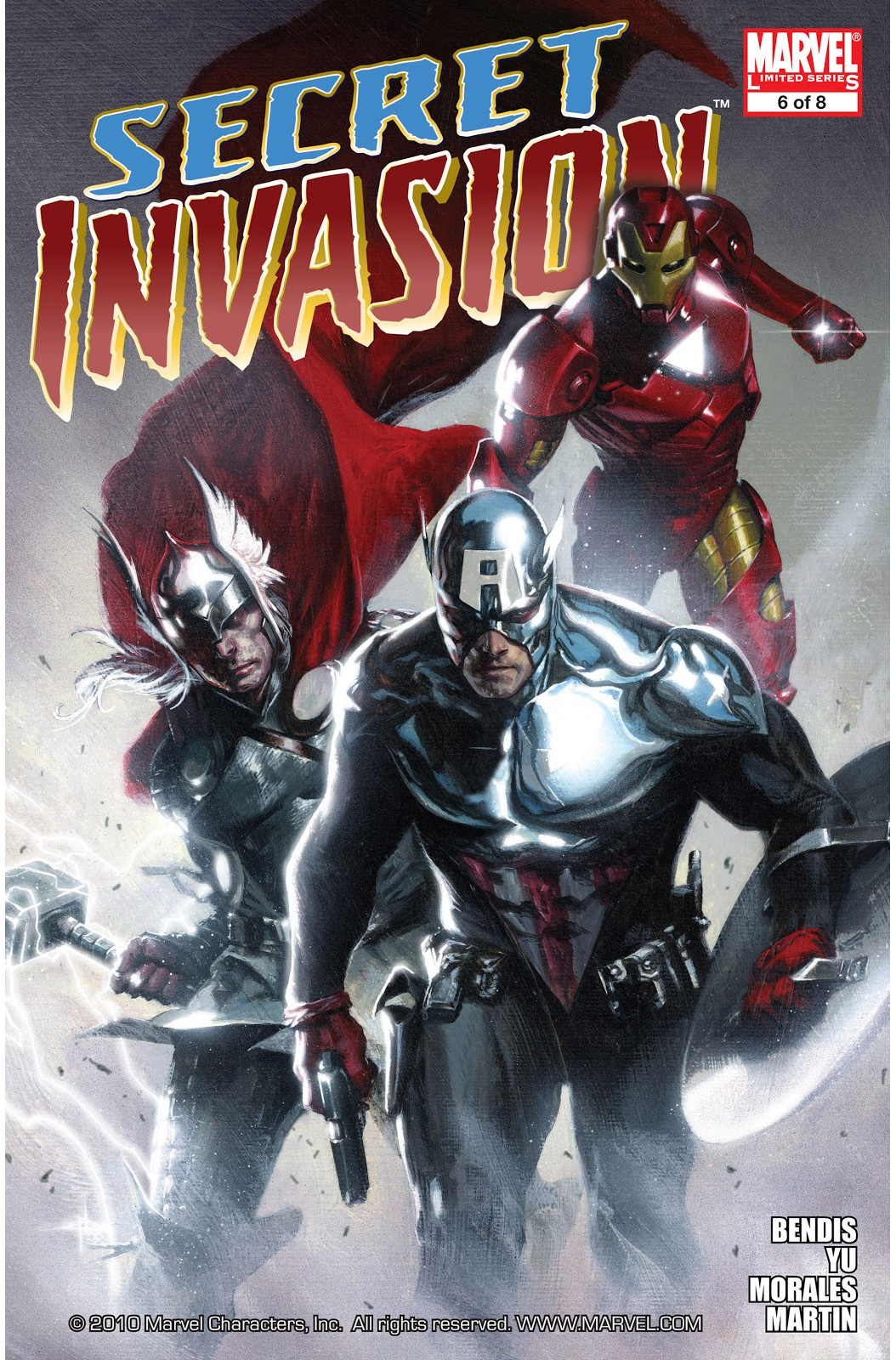 Copertina di Secret Invasion 6 del 2008, di Gabriele Dell'Otto