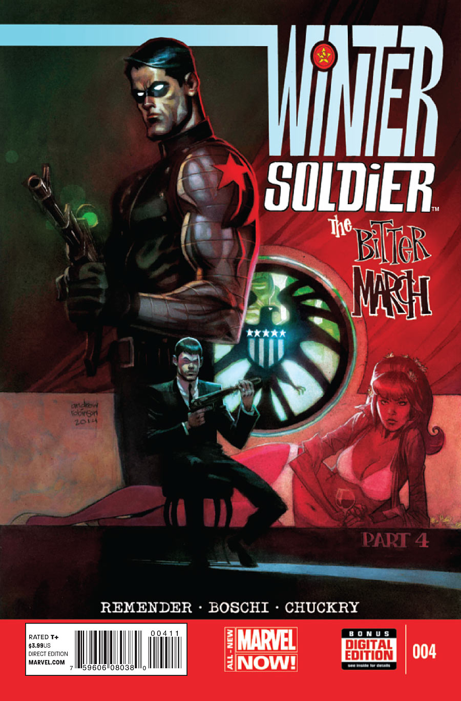 Copertina di Winter Solider: The Bitter March 4 del 2014, di Andrew Robinson
