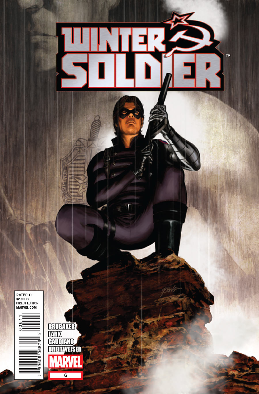 Copertina di Winter Soldier 6 del 2012, di Steve Epting