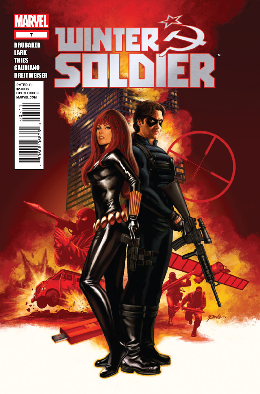 Copertina di Winter Soldier 7 del 2012, di Steve Epting