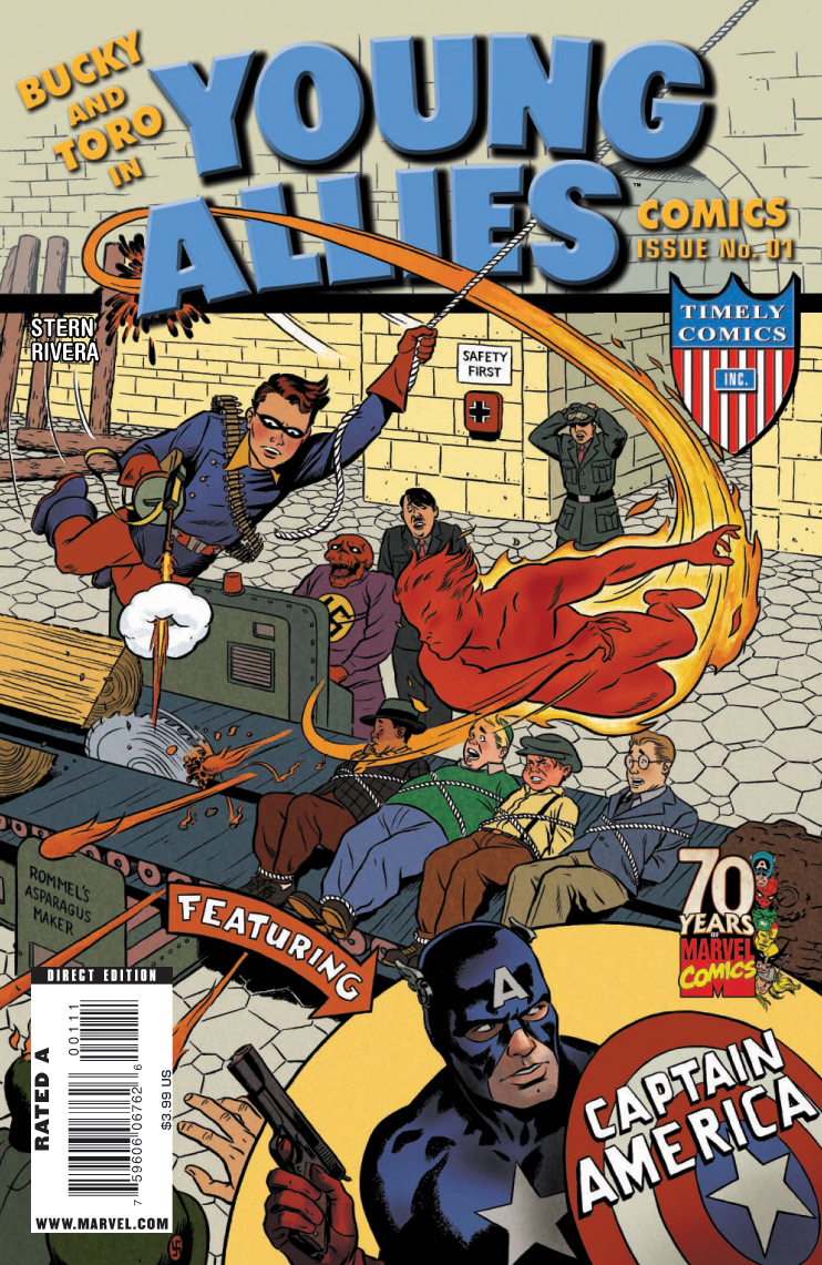 Copertina di Young Allies Comics 70th Anniversary Special del 2009, di Paolo Rivera