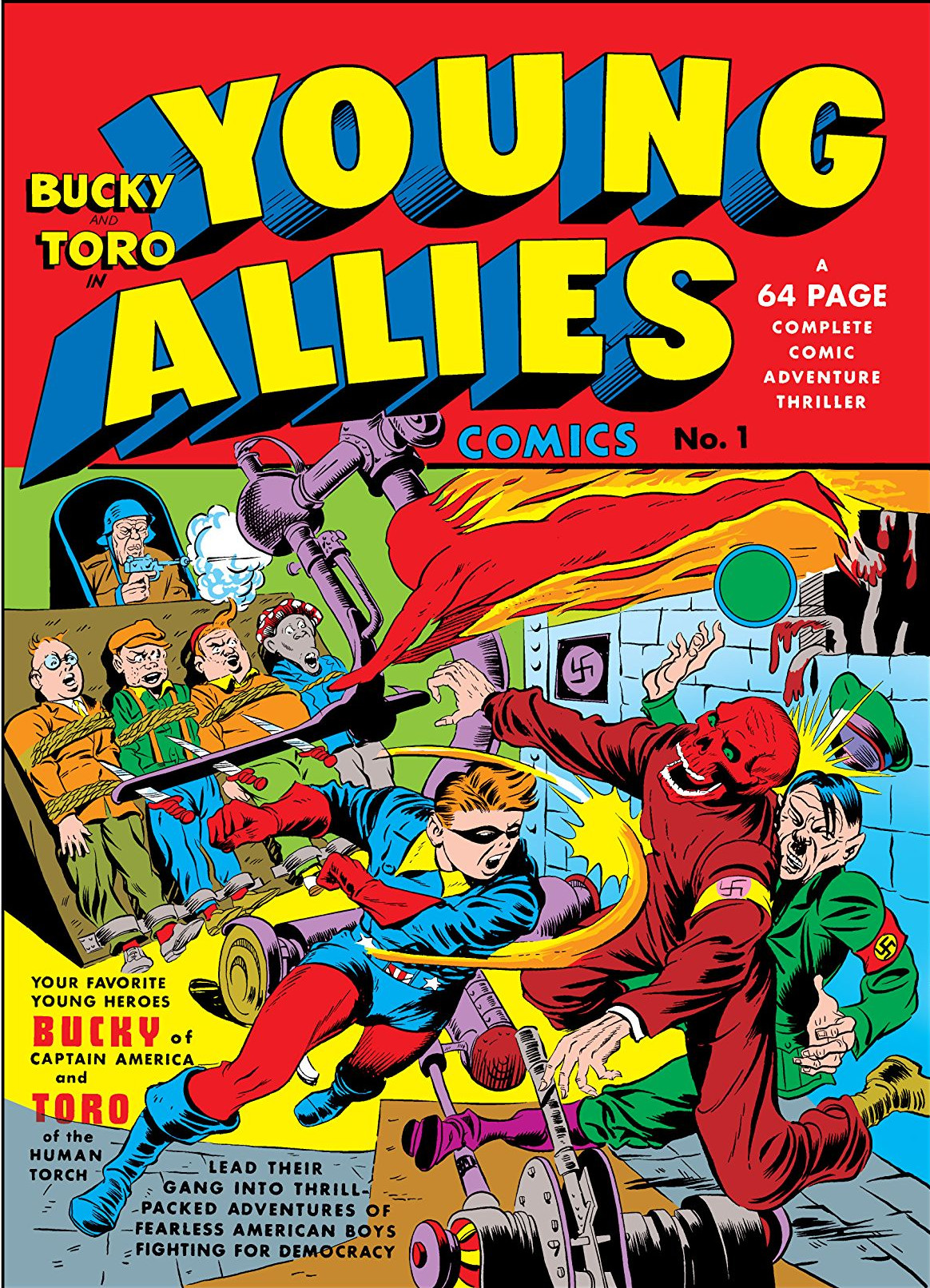 Copertina di Young Allies 1 del 1941, di Jack Kirby e Syd Shores