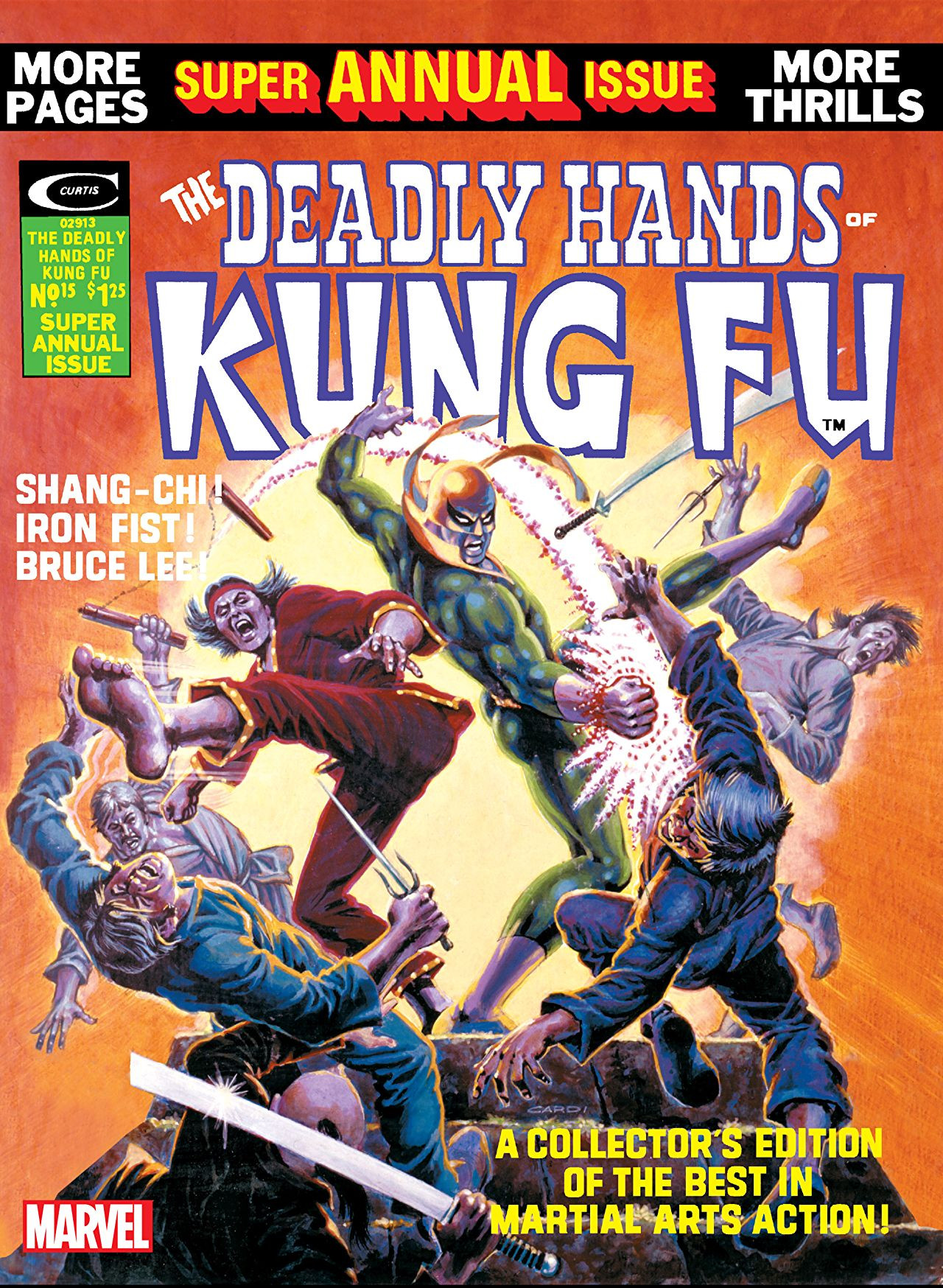 Cover di Deadly Hands of Kung Fu 15 del 1975, di Nick Cardy